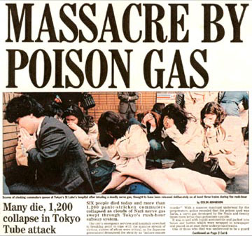 a history of nerved gas in tokyo The attack was the worst in modern japanese history,  for the victims of the 1995 deadly nerve-gas attack in tokyo on friday  attack tokyo subway attack tokyo sarin attack tokyo 1995.